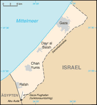 Gaza Karte Palästina