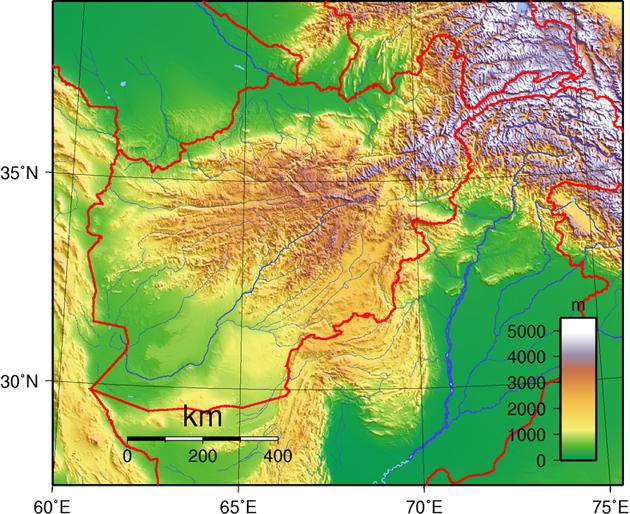 Afghanistan Landkarte
