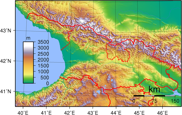 Georgien Landkarte