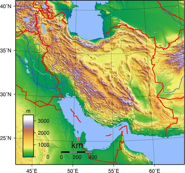 Iran Landkarte
