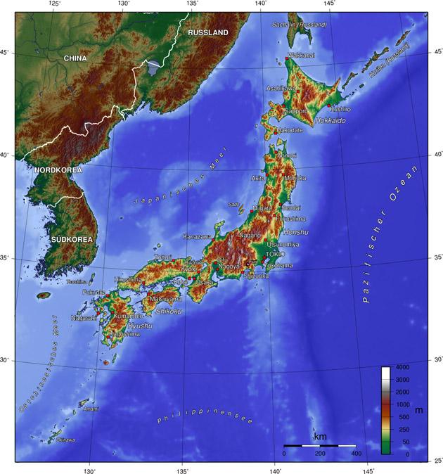 Japan Landkarte