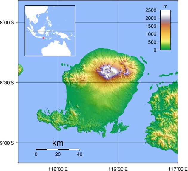 Lombok Landkarte