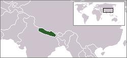 Nepal Lage