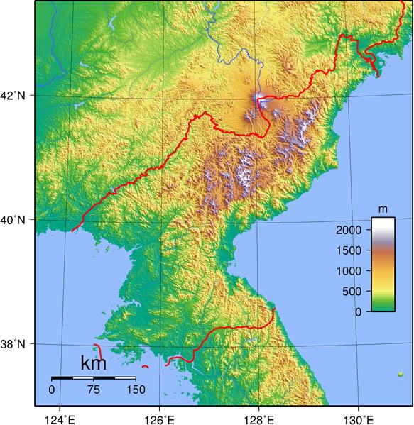 Nordkorea Landkarte