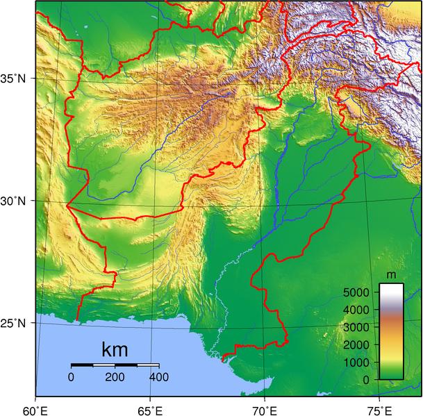 Pakistan Landkarte