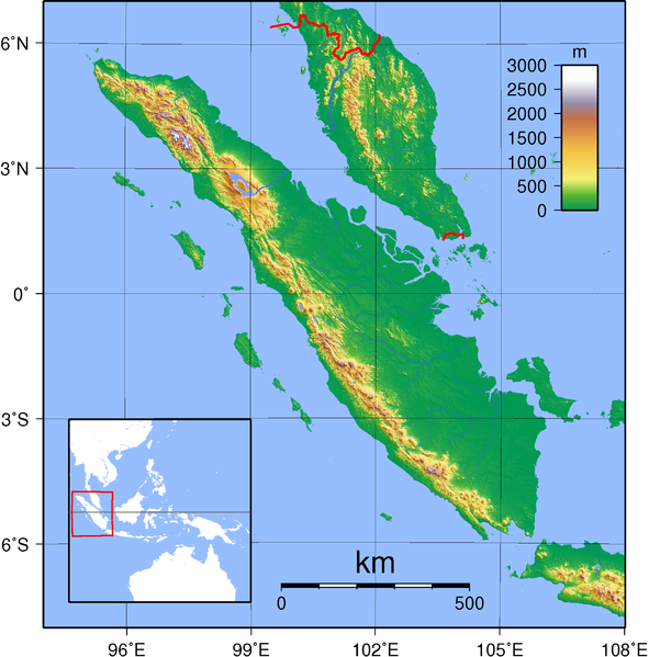 Sumatra Landkarte