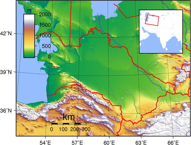 Turkmenistan Landkarte