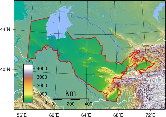 Usbekistan Landkarte