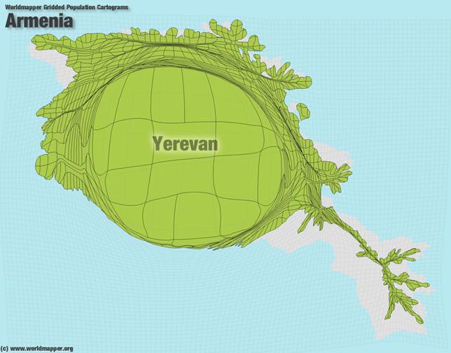 Armenien Bevölkerung Verteilung