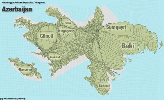Aserbaidschan Bevölkerung Verteilung