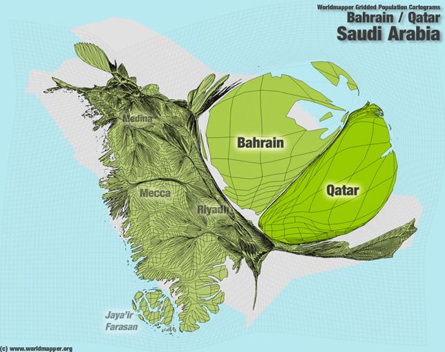 Bahrain Bevölkerung Verteilung