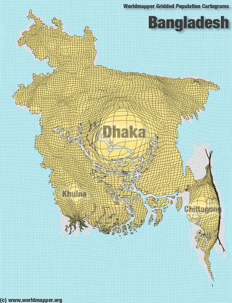 Bangladesch Bevölkerung Verteilung