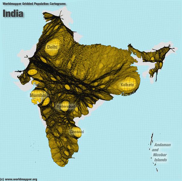 Indien Bevölkerung Verteilung