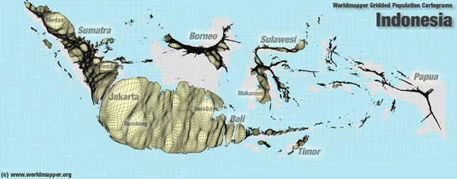 Indonesien Bevölkerung Verteilung