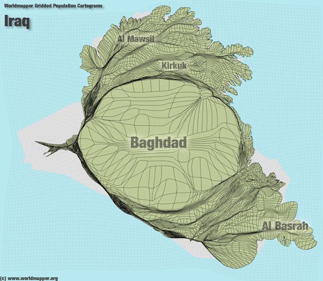 Irak Bevölkerung Verteilung