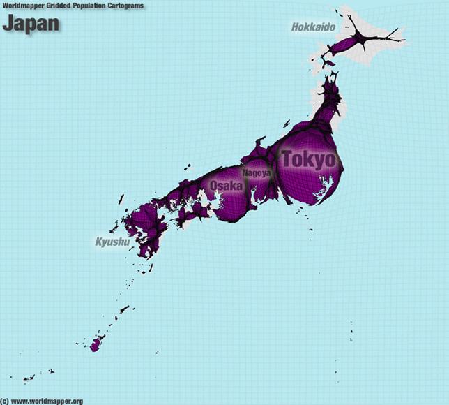 Japan Bevölkerung Verteilung