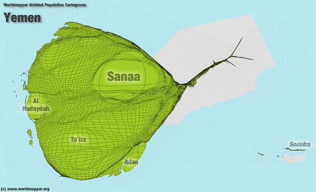 Jemen Bevölkerung Verteilung