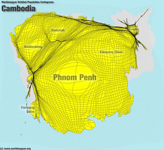 Kambodscha Bevölkerung Verteilung