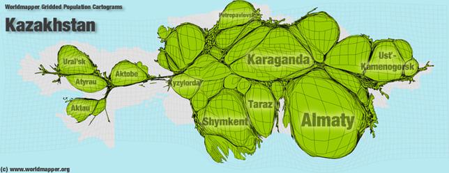 KasachstanBevölkerung Verteilung