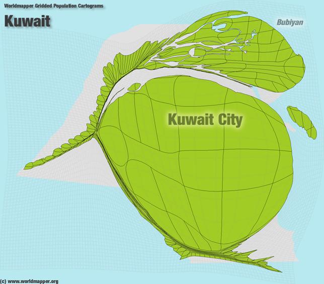 Kuwait Bevölkerung Verteilung