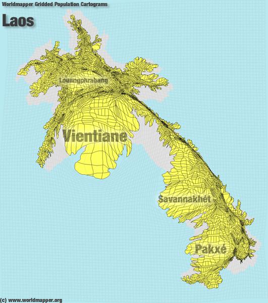 Laos Bevölkerung Verteilung