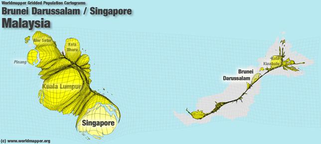 Malaysia Bevölkerung Verteilung