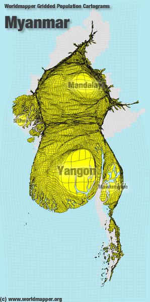 Myanmar Bevölkerung Verteilung