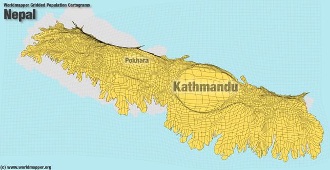Nepal Bevölkerung Verteilung
