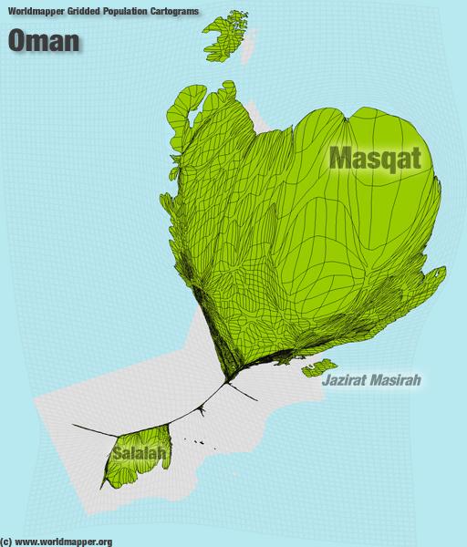 Oman Bevölkerung Verteilung