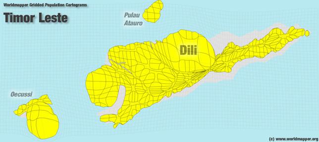 Osttimor Bevölkerung Verteilung