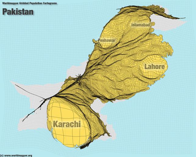 Pakistan Bevölkerung Verteilung