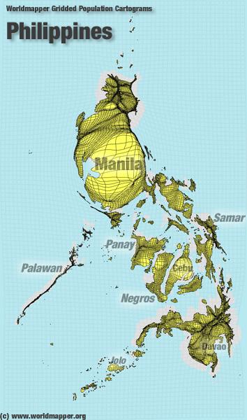 Philippinen Bevölkerung Verteilung