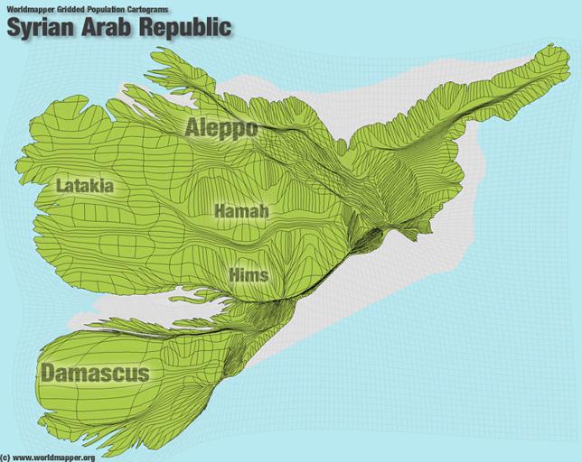Syrien Bevölkerung Verteilung