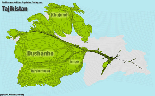Tadschikistan Bevölkerung Verteilung