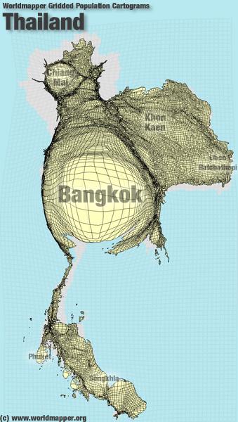 Thailand Bevölkerung Verteilung