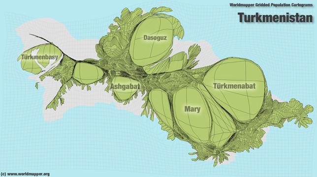 Turkmenistan Bevölkerung Verteilung