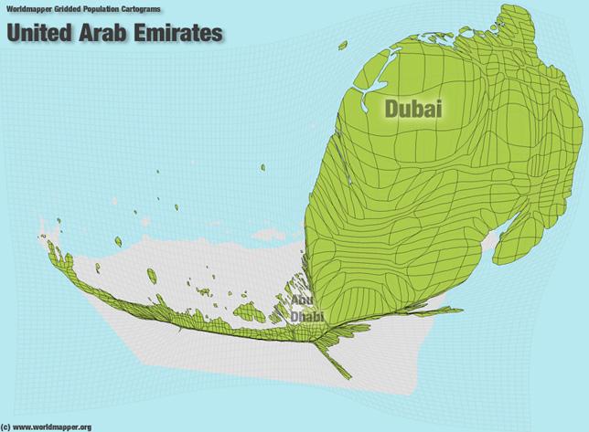 Vereinigte Arabische Emirate Bevölkerung Verteilung