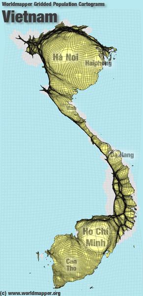 Vietnam Bevölkerung Verteilung
