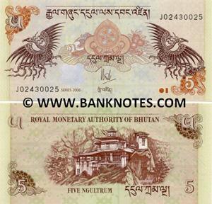 Bhutan Währung Banknoten
