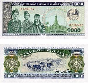 LAos Währung Banknoten